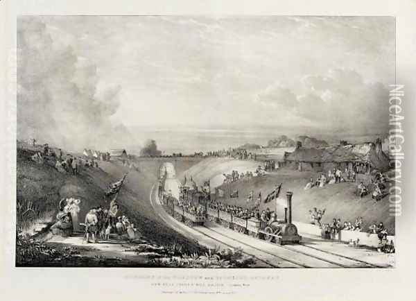 Views Of The Opening Of The Glasgow And Garnkirk Railway Oil Painting - David Octavius Hill