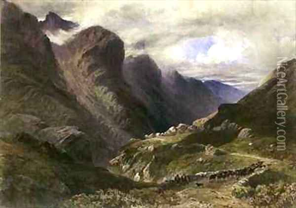 The Pass of Glencoe Oil Painting - William Bennett