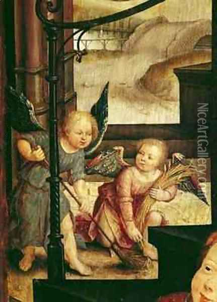 Triptych of the Adoration of the Child Oil Painting - Jean Bellegambe the Elder