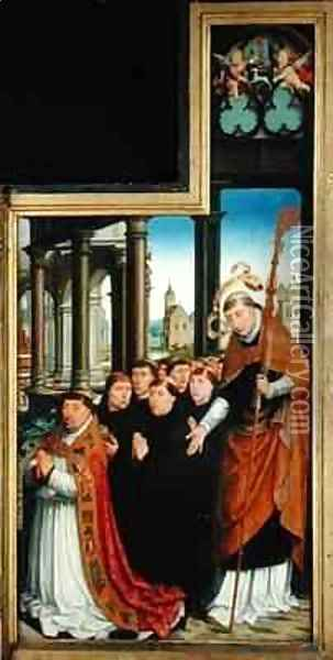 Polyptych of the Glorification of the Holy Trinity 2 Oil Painting - Jean Bellegambe the Elder
