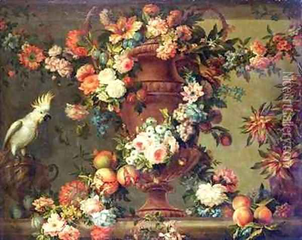 An Abundance of Fruit and Flowers Oil Painting - Jean Baptiste Belin de Fontenay