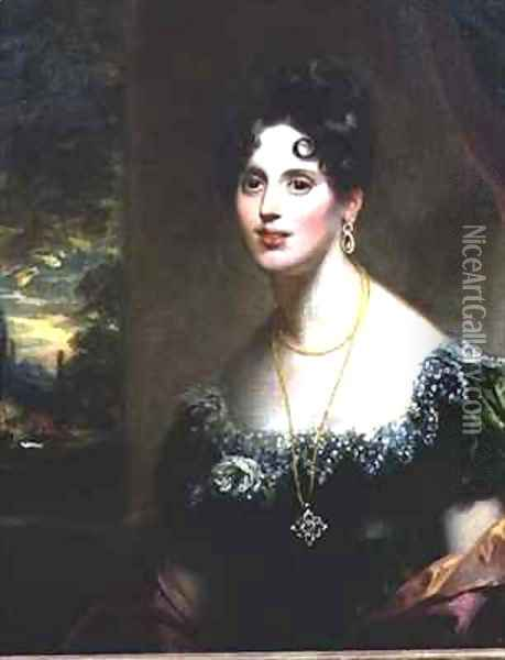 Mary Martha Beresford, sister of Agnes, Lady FitzHerbert Oil Painting - Sir William Beechey