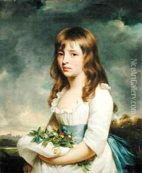 Portrait of a girl Oil Painting - Sir William Beechey