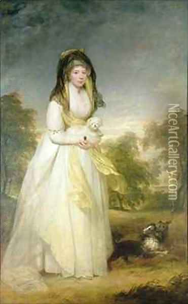Portrait of Queen Charlotte (1744-1818), wife of King George III Oil Painting - Sir William Beechey