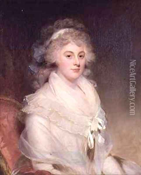 Elizabeth Beauclerk, Lady Herbert (1766-93) Oil Painting - Sir William Beechey