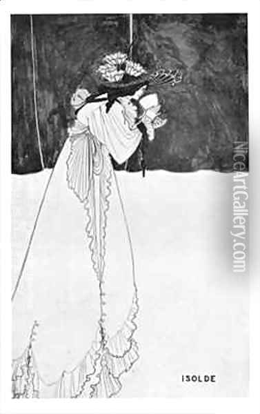 Isolde Drinking the Poison 2 Oil Painting - Aubrey Vincent Beardsley