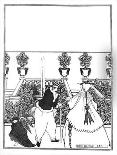 Front Cover Design for 'The Savoy' Oil Painting - Aubrey Vincent Beardsley