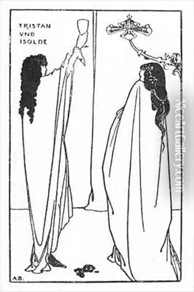 A Repetition of Tristan und Isolde Oil Painting - Aubrey Vincent Beardsley