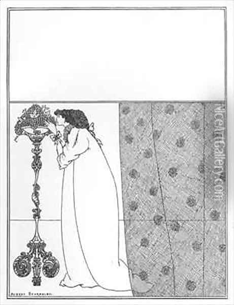 Cover Design for 'The Savoy' Oil Painting - Aubrey Vincent Beardsley