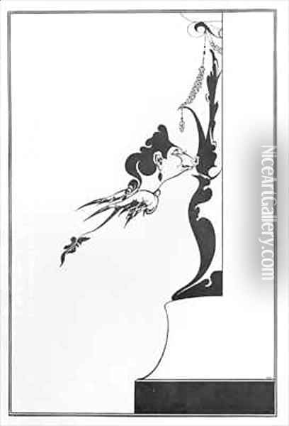 Front Cover of 'The House of Sin' Oil Painting - Aubrey Vincent Beardsley