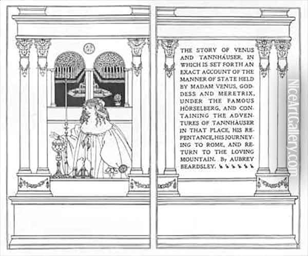 Titlepage from 'The Story of Venus and Tannhauser' Oil Painting - Aubrey Vincent Beardsley