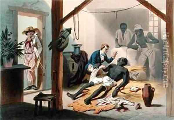 The Death of Uncle Tom, plate 11 from 'Uncle Tom's Cabin' Oil Painting - Adolphe Jean-Baptiste Bayot
