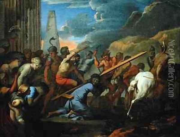 The Carrying of the Cross Oil Painting - Lubin Baugin