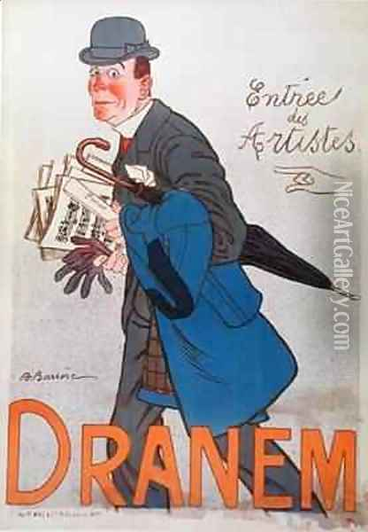 Poster depicting Dranem (1869-1935) Oil Painting - Adrien Barrere