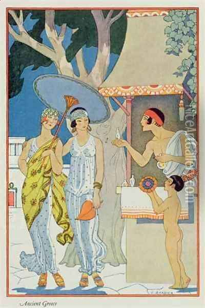 Ancient Greece Oil Painting - Georges Barbier