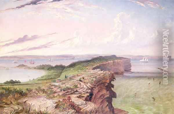 The North Head Entrance to Port Jackson, the Inner South Head, the Gap and Watson's Bay Oil Painting - Thomas Baines
