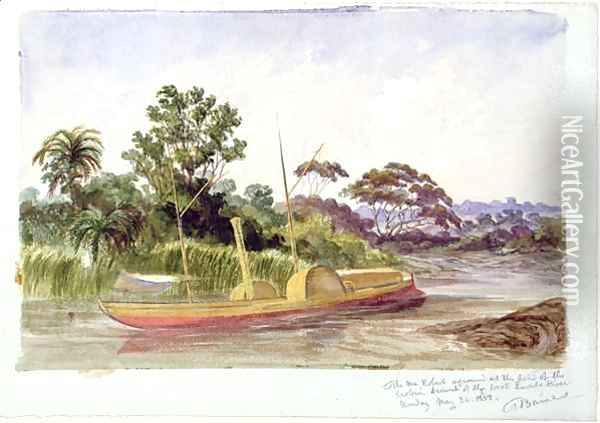 The 'Ma Robert', Livingstone's boat Oil Painting - Thomas Baines