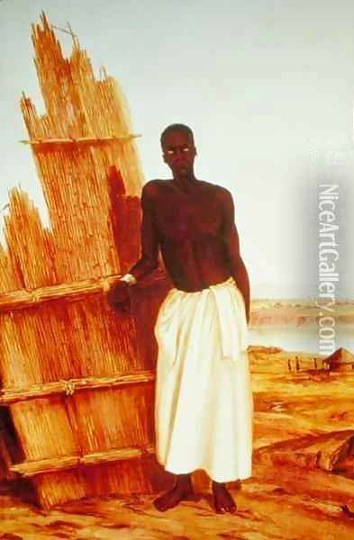 Conde - a native of Tete Oil Painting - Thomas Baines