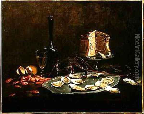 Still Life with Seafood Oil Painting - Joseph Bail