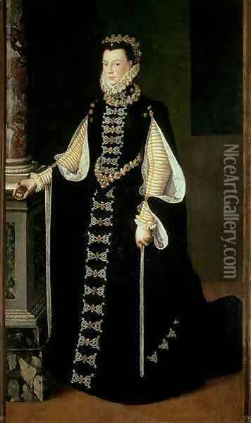Isabella of Valois, Queen of Spain (1545-68), wife of King Philip II of Spain (1556-98) Oil Painting - Sofonisba Anguissola