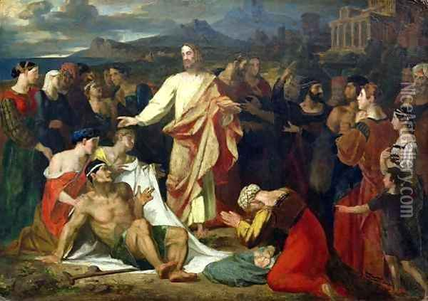 Christ Healing the Sick Oil Painting - Washington Allston