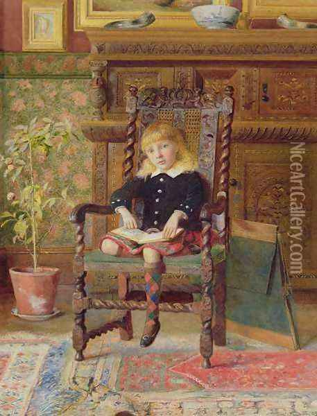 The Story Book Oil Painting - William Alexander