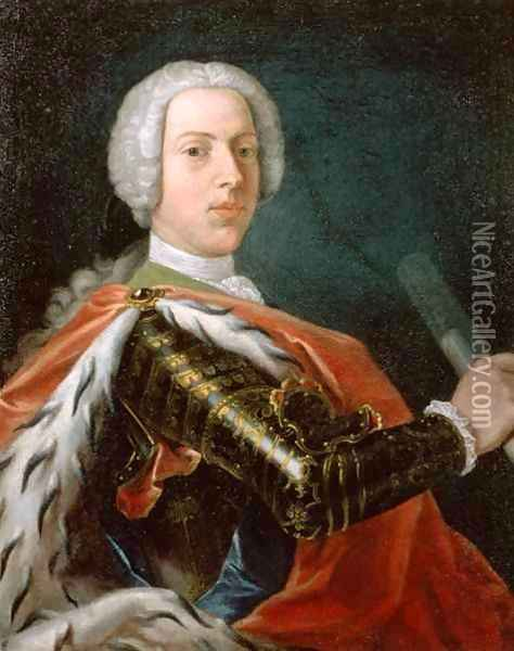 Prince Charles Edward Stuart (1720-88) or 'Bonnie Prince Charlie' Oil Painting - Cosmo Alexander
