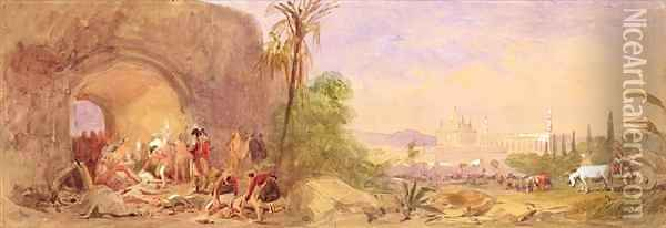 The discovery of Tipu's body at the Water Gate at Seringapatam Oil Painting - John Absolon