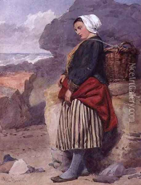 A Boulogne fisher-girl Oil Painting - John Absolon