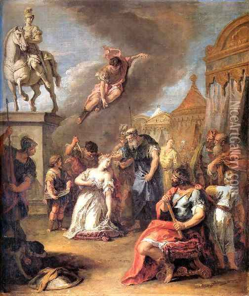 Sacrifice of Polissena Oil Painting - Sebastiano Ricci