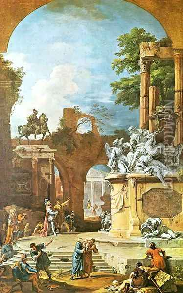 Allegorical Tomb of the Duke of Devonshire Oil Painting - Sebastiano Ricci