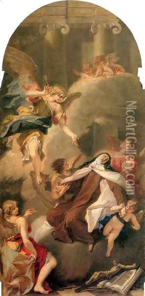 Ecstasy of St Therese Oil Painting - Sebastiano Ricci