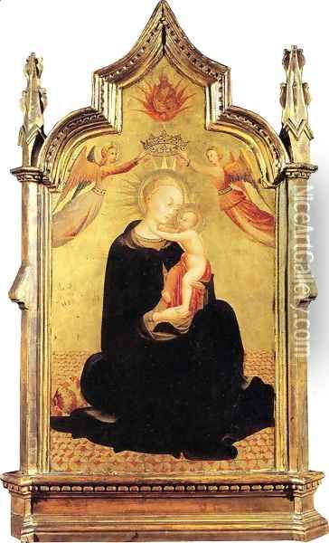 Madonna and Child with Angels Oil Painting - Stefano Di Giovanni Sassetta