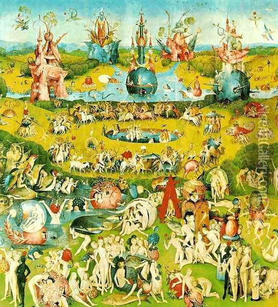 The Garden of Earthly Delights panel 2 Oil Painting - Hieronymous Bosch