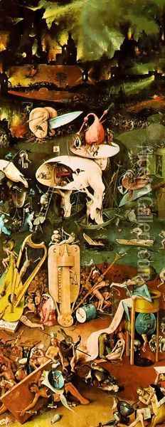 The Garden of Earthly Delights panel 3 Oil Painting - Hieronymous Bosch