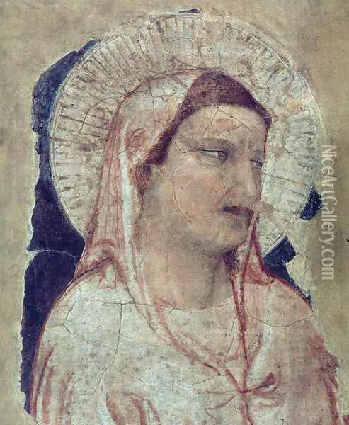Virgin Mourning Oil Painting - Giotto Di Bondone