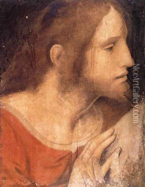 Head of St James the Less Oil Painting - Leonardo Da Vinci