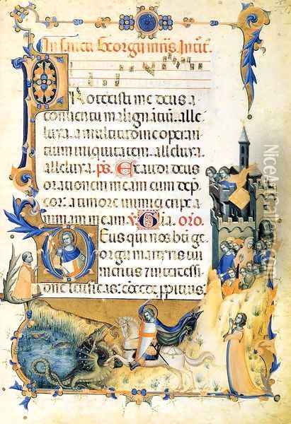 Codex of St George (Folio 85r) Oil Painting - Master of the Codex of St. George