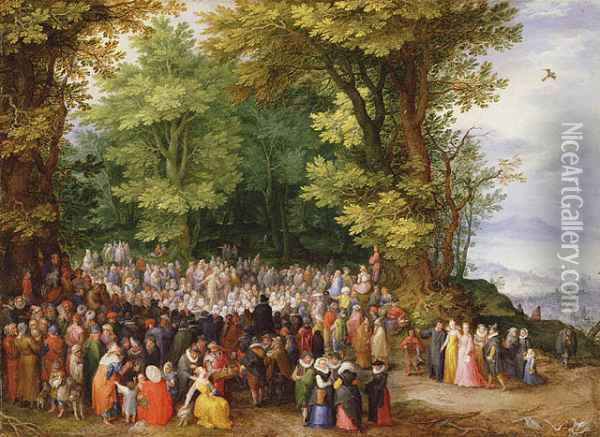 The Sermon on the Mount Oil Painting - Jan The Elder Brueghel