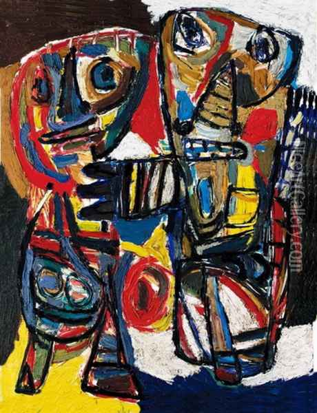 Couple Oil Painting - Anonymous Artist