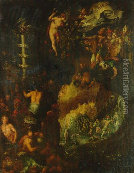 An Allegory Of The Day Of Judgement Oil Painting - Hans Von Aachen