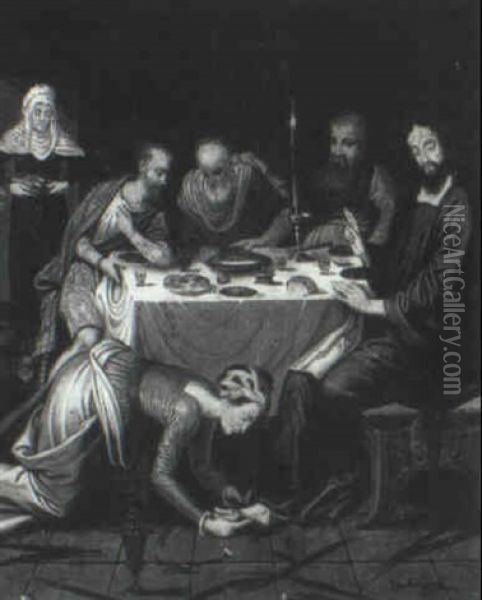 Christ At The Supper In The House Of Simon The Pharisee Oil Painting - Pieter Aertsen