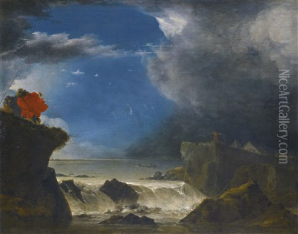 The Breach Of The Sint Anthonisdijk On The Night Of 5-6 March Oil Painting - Jan Asselijn