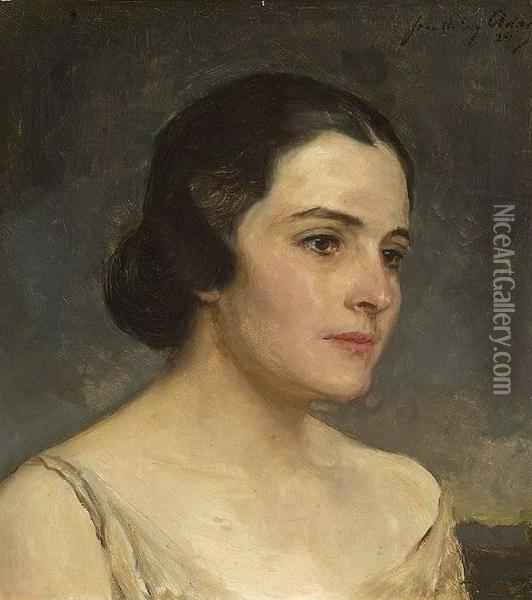 Portrait Of A Lady Oil Painting - John Quincy Adams