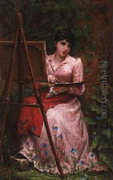 The Young Artist Oil Painting - Felix Joseph Barrias