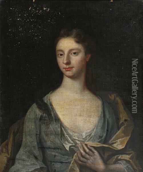 Portrait Of Mary Husey Oil Painting - William Aikman