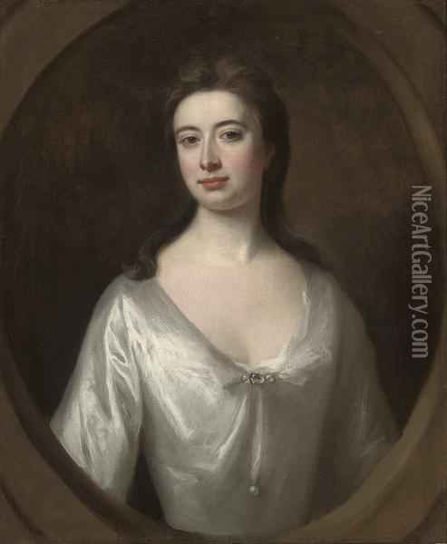 Portrait Of A Lady, Traditionally Identified As Mary Campbell Of Mamore Oil Painting - William Aikman