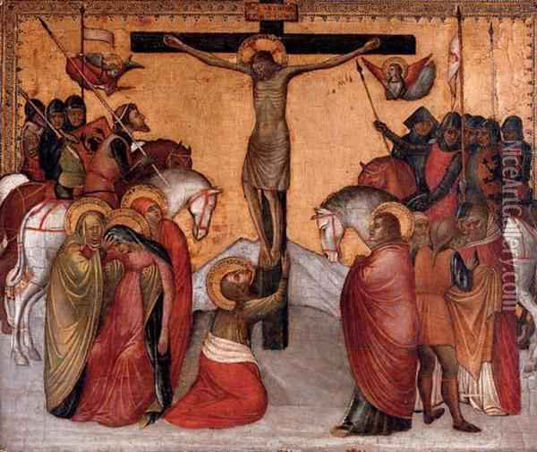 The Crucifixion Oil Painting - Jacobello Alberegno