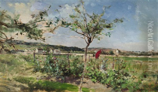 Summer Meadow Oil Painting - Giovanni Boldini