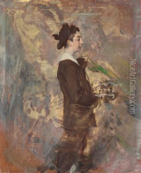 The Son Of The Artist Ernst-ange Duez Oil Painting - Giovanni Boldini